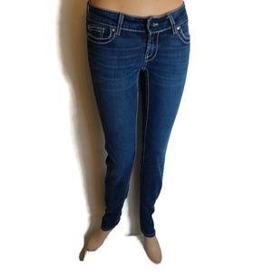 BKE Stella Skinny Low-Rise Jeans Rhinestones 27R